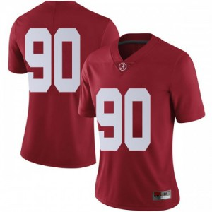 Women Alabama Crimson Tide Stephon Wynn Jr. #90 College Crimson Limited Football Jersey 916445-965