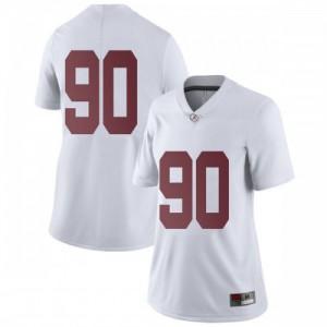 Women Alabama Crimson Tide Stephon Wynn Jr. #90 College White Limited Football Jersey 727294-397