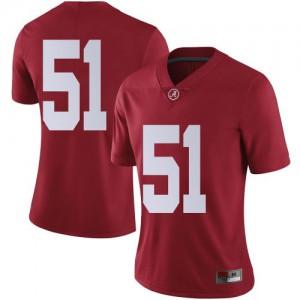 Women Alabama Crimson Tide Tanner Bowles #51 College Crimson Limited Football Jersey 998503-190