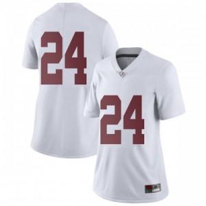 Women Alabama Crimson Tide Terrell Lewis #24 College White Limited Football Jersey 184274-421