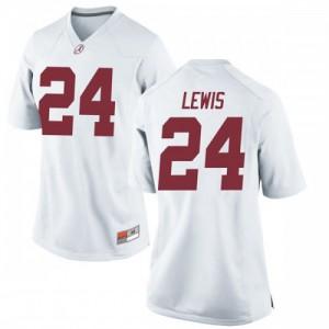 Women Alabama Crimson Tide Terrell Lewis #24 College White Replica Football Jersey 704412-495