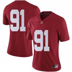 Women Alabama Crimson Tide Tevita Musika #91 College Crimson Limited Football Jersey 362301-672
