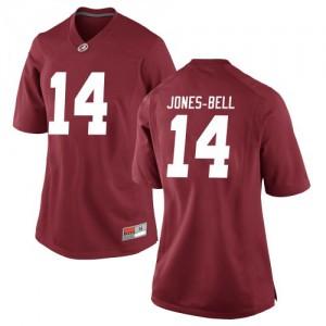 Women Alabama Crimson Tide Thaiu Jones-Bell #14 College Crimson Replica Football Jersey 619895-240