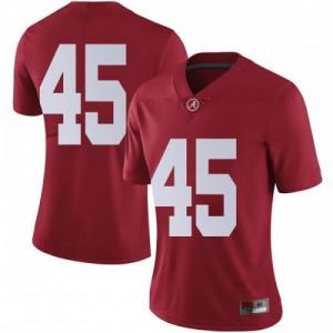 Women Alabama Crimson Tide Thomas Fletcher #45 College Crimson Limited Football Jersey 706451-502