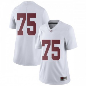 Women Alabama Crimson Tide Tommy Brown #75 College White Limited Football Jersey 206653-228