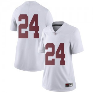 Women Alabama Crimson Tide Trey Sanders #24 College White Limited Football Jersey 548555-234