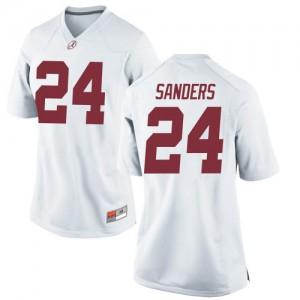 Women Alabama Crimson Tide Trey Sanders #24 College White Replica Football Jersey 446280-335