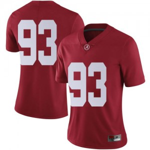 Women Alabama Crimson Tide Tripp Slyman #93 College Crimson Limited Football Jersey 818598-552