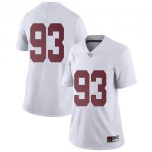 Women Alabama Crimson Tide Tripp Slyman #93 College White Limited Football Jersey 853942-354
