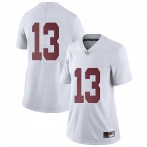 Women Alabama Crimson Tide Tua Tagovailoa #13 College White Limited Football Jersey 636659-486