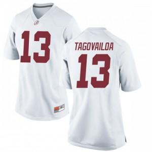 Women Alabama Crimson Tide Tua Tagovailoa #13 College White Replica Football Jersey 692338-514