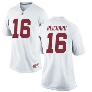 Women Alabama Crimson Tide Will Reichard #16 College White Replica Football Jersey 191611-785