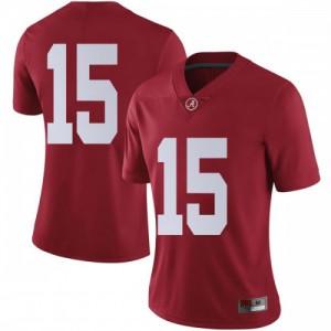 Women Alabama Crimson Tide Xavier McKinney #15 College Crimson Limited Football Jersey 629701-892