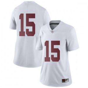 Women Alabama Crimson Tide Xavier McKinney #15 College White Limited Football Jersey 826400-515