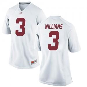 Women Alabama Crimson Tide Xavier Williams #3 College White Game Football Jersey 476875-286