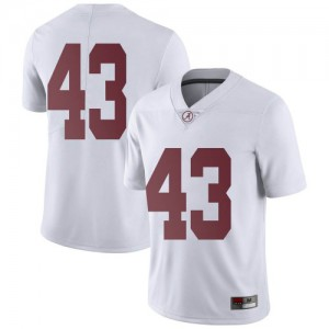 Youth Alabama Crimson Tide A.J. Gates #43 College White Limited Football Jersey 500018-694
