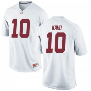 Youth Alabama Crimson Tide Ale Kaho #10 College White Replica Football Jersey 919661-669