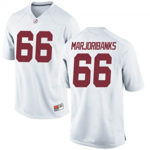 Youth Alabama Crimson Tide Alec Marjoribanks #66 College White Replica Football Jersey 355496-409