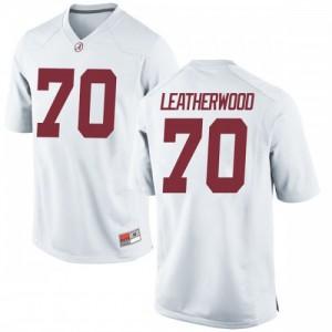 Youth Alabama Crimson Tide Alex Leatherwood #70 College White Game Football Jersey 377276-754