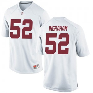 Youth Alabama Crimson Tide Braylen Ingraham #52 College White Replica Football Jersey 962491-888