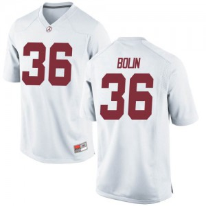 Youth Alabama Crimson Tide Bret Bolin #36 College White Game Football Jersey 848890-359
