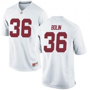 Youth Alabama Crimson Tide Bret Bolin #36 College White Replica Football Jersey 690245-631