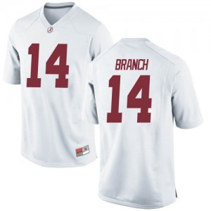 Youth Alabama Crimson Tide Brian Branch #14 College White Game Football Jersey 836832-866