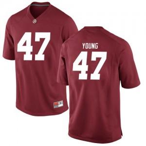 Youth Alabama Crimson Tide Byron Young #9 College Crimson Replica Football Jersey 216196-561