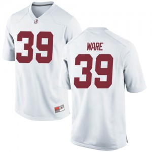 Youth Alabama Crimson Tide Carson Ware #39 College White Game Football Jersey 444145-208