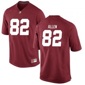 Youth Alabama Crimson Tide Chase Allen #82 College Crimson Game Football Jersey 464778-372