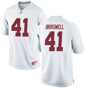 Youth Alabama Crimson Tide Chris Braswell #41 College White Game Football Jersey 368921-949
