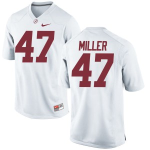 Youth Alabama Crimson Tide Christian Miller #47 College White Game Football Jersey 750876-444