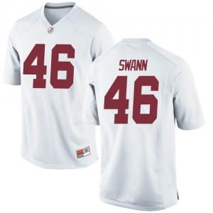 Youth Alabama Crimson Tide Christian Swann #46 College White Replica Football Jersey 867137-622