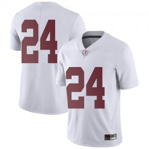 Youth Alabama Crimson Tide Clark Griffin #24 College White Limited Football Jersey 337137-265