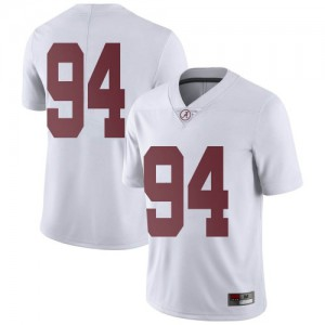 Youth Alabama Crimson Tide DJ Dale #94 College White Limited Football Jersey 908965-834