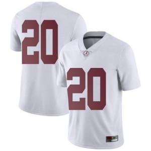 Youth Alabama Crimson Tide DJ Douglas #20 College White Limited Football Jersey 222856-120