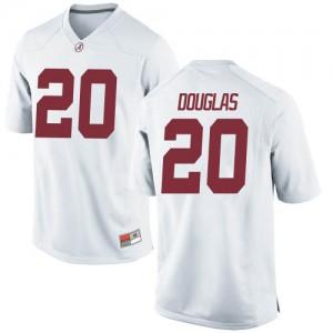 Youth Alabama Crimson Tide DJ Douglas #20 College White Replica Football Jersey 645931-919