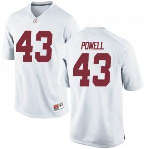 Youth Alabama Crimson Tide Daniel Powell #43 College White Replica Football Jersey 613390-327