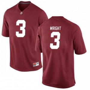 Youth Alabama Crimson Tide Daniel Wright #3 College Crimson Game Football Jersey 296415-159