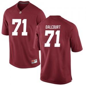 Youth Alabama Crimson Tide Darrian Dalcourt #71 College Crimson Replica Football Jersey 162512-679