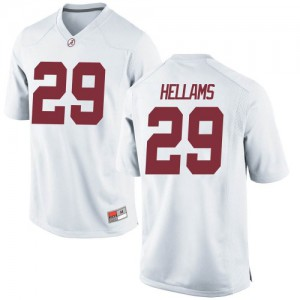 Youth Alabama Crimson Tide DeMarcco Hellams #29 College White Game Football Jersey 252639-823