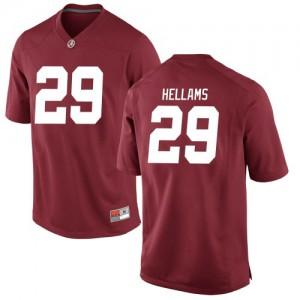 Youth Alabama Crimson Tide DeMarcco Hellams #29 College Crimson Replica Football Jersey 654294-543