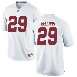 Youth Alabama Crimson Tide DeMarcco Hellams #29 College White Replica Football Jersey 286274-664