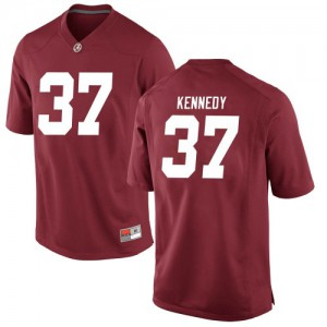 Youth Alabama Crimson Tide Demouy Kennedy #37 College Crimson Game Football Jersey 206668-292