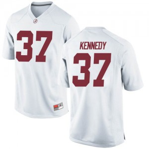 Youth Alabama Crimson Tide Demouy Kennedy #37 College White Game Football Jersey 721886-290
