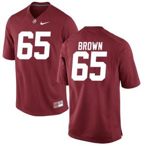 Youth Alabama Crimson Tide Deonte Brown #65 College Brown Replica Crimson Football Jersey 323073-834