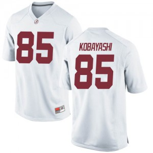 Youth Alabama Crimson Tide Drew Kobayashi #85 College White Game Football Jersey 330704-769