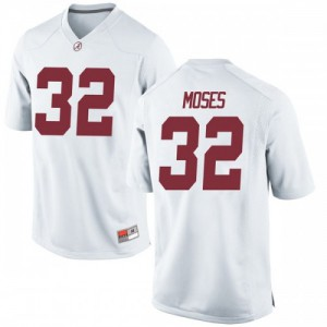 Youth Alabama Crimson Tide Dylan Moses #32 College White Replica Football Jersey 760347-179