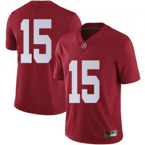 Youth Alabama Crimson Tide Eddie Smith #15 College Crimson Limited Football Jersey 727365-998
