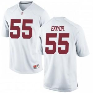 Youth Alabama Crimson Tide Emil Ekiyor Jr. #55 College White Game Football Jersey 826275-946